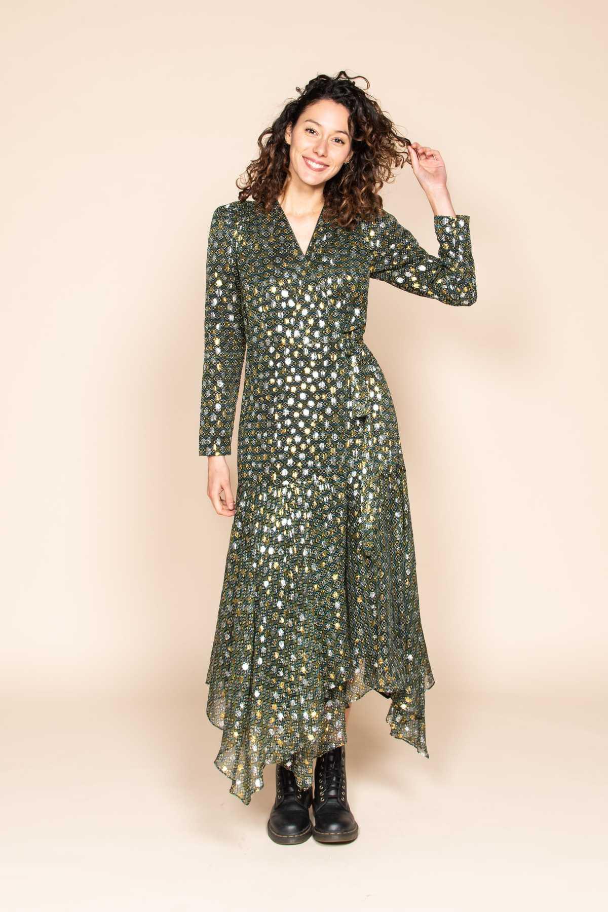 Magnifique Robe Longue Portefeuille Tr S Mode Robe Derhy
