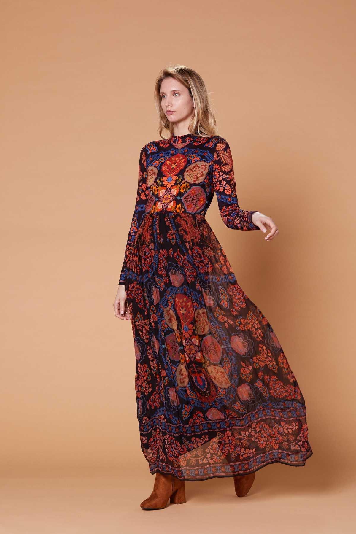 Longue Robe Imprimee Bandabougoir Derhy