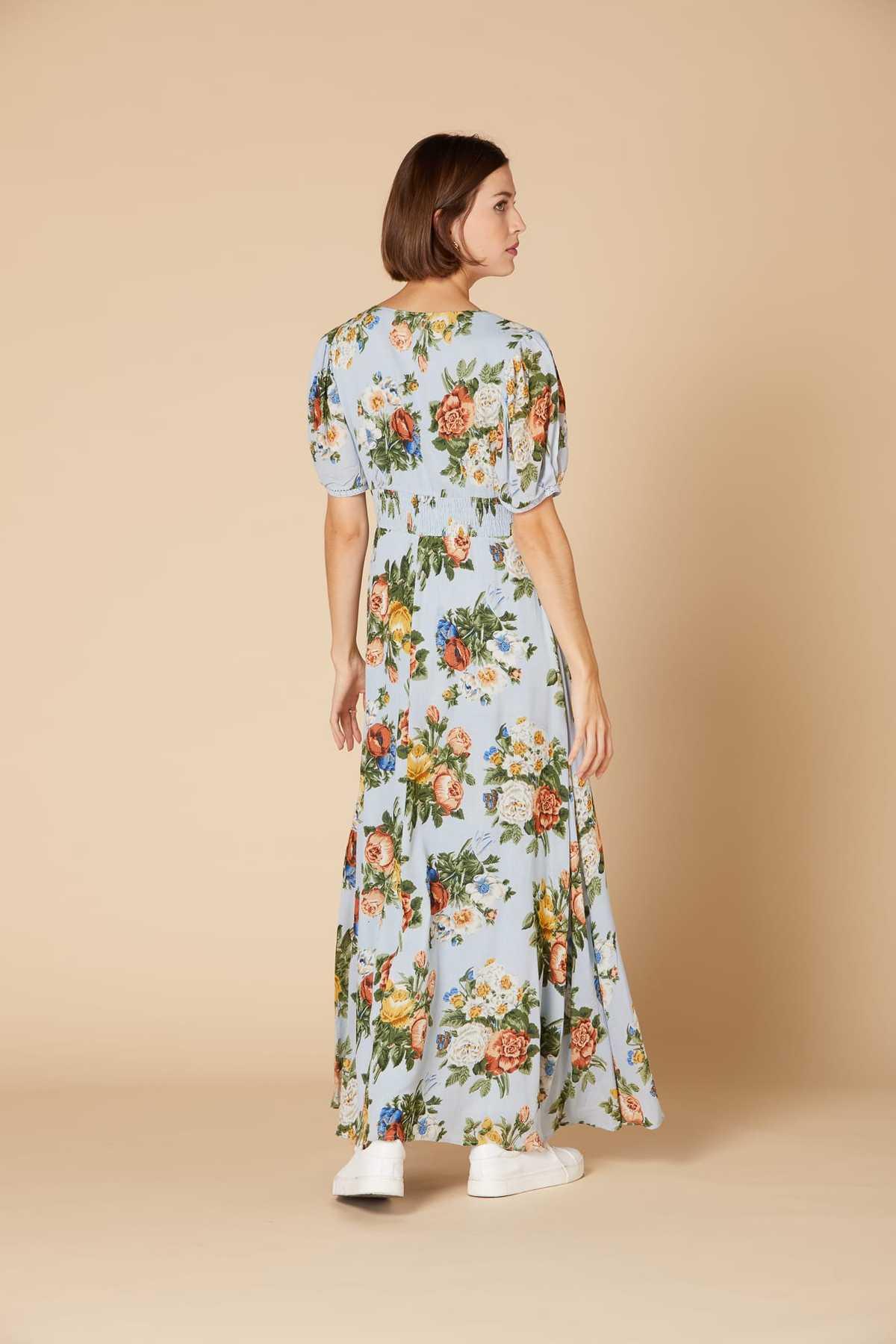 Robe Longue Imprimee A Manches Courtes Calanque Derhy