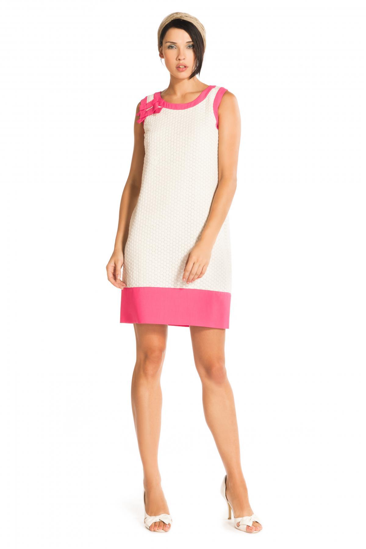 9293e1ecb3d Robe droite avec bandes-Robe abstract