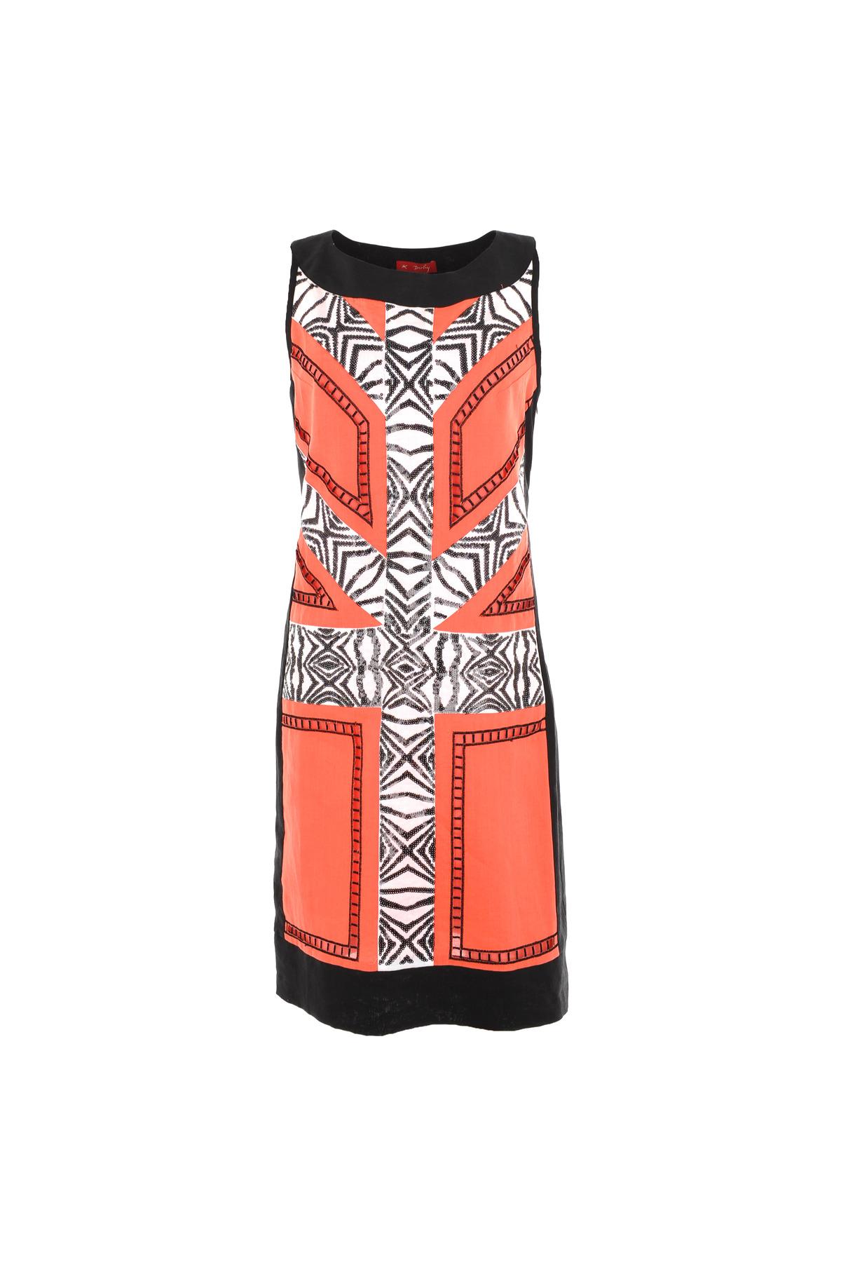 robe droite en lin motif ann es 30 robe farfadet derhy. Black Bedroom Furniture Sets. Home Design Ideas