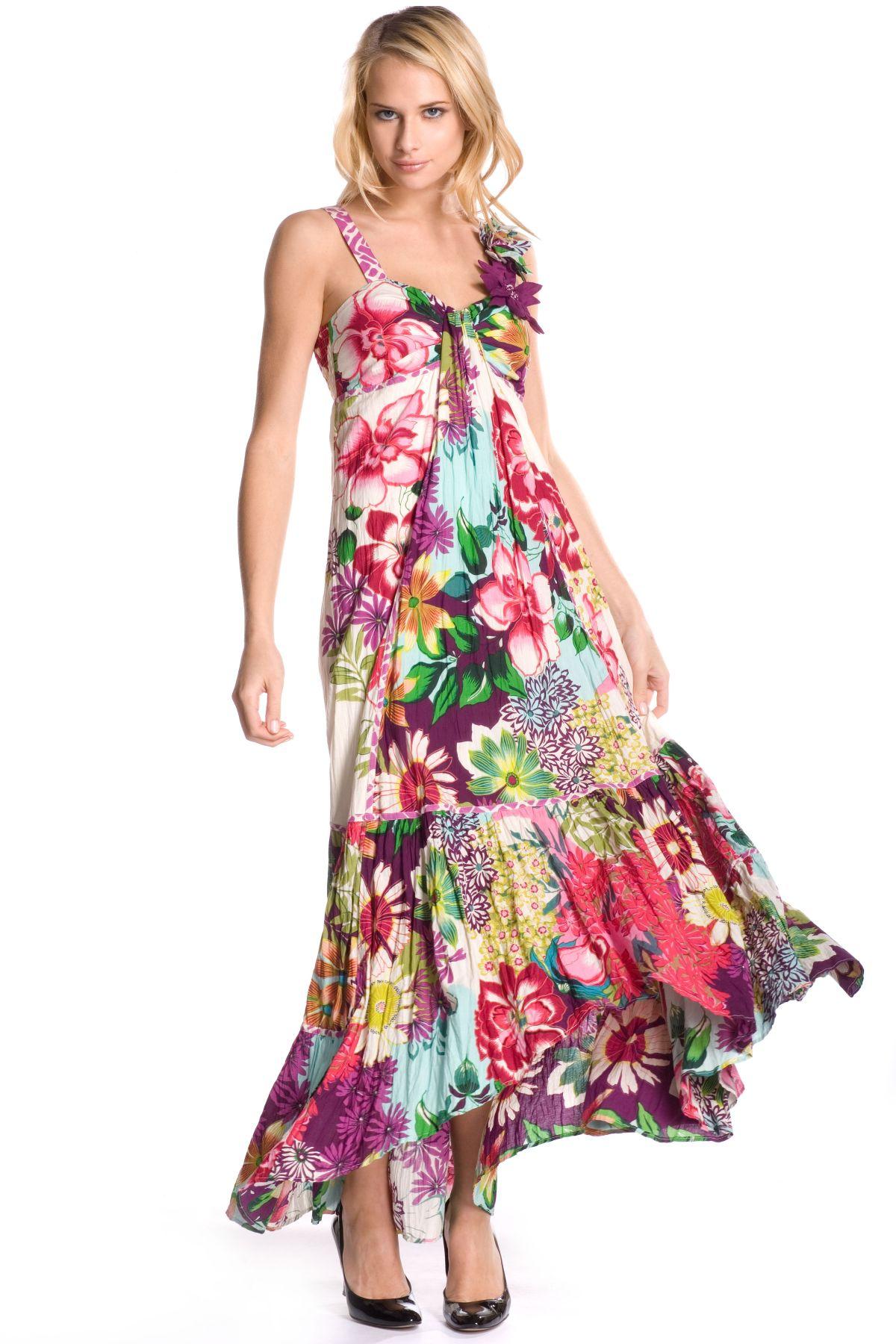 robe longue imprim grandes fleurs robe camaieu derhy. Black Bedroom Furniture Sets. Home Design Ideas