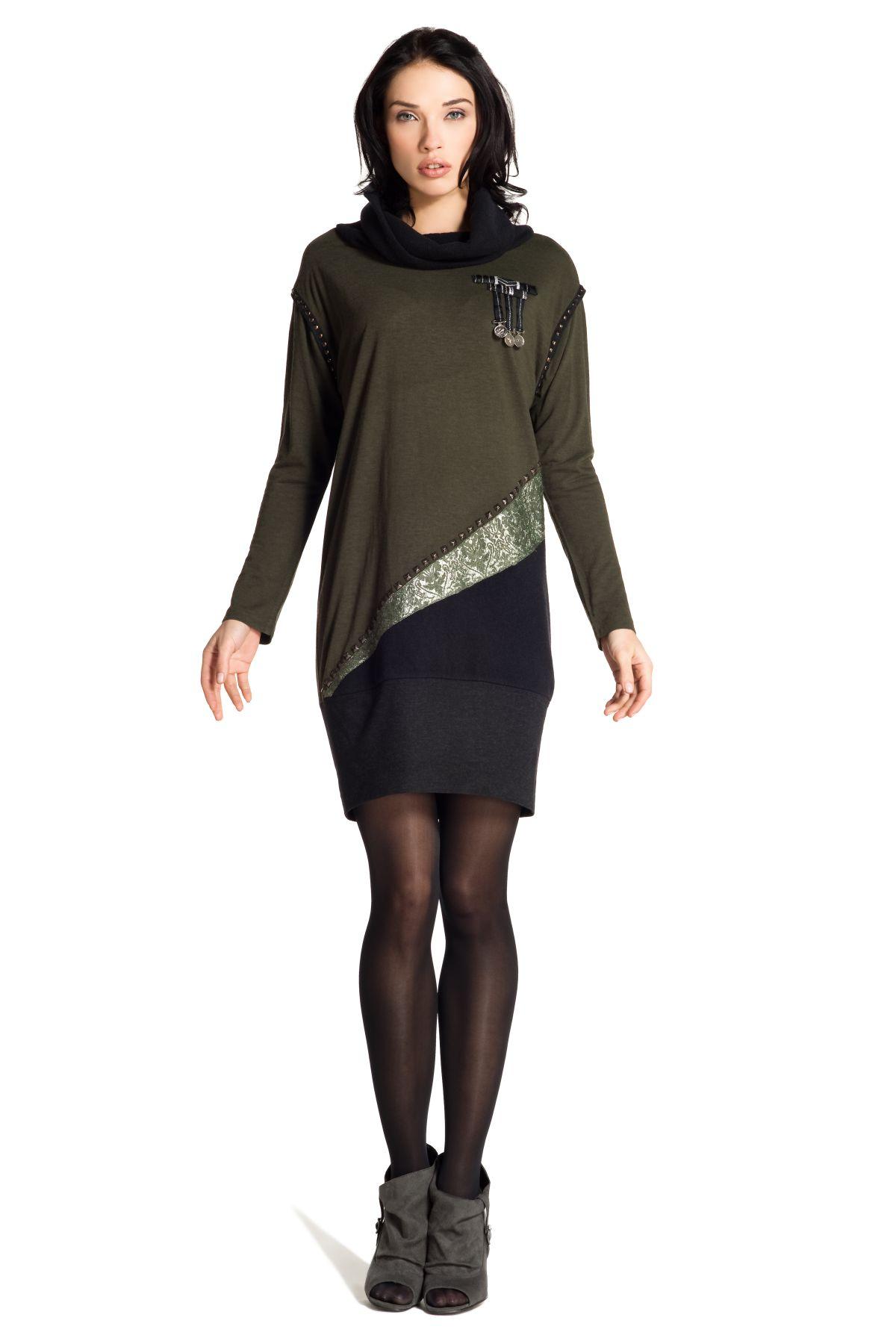 magasin en ligne 9b366 95739 Robe en laine manche longue, mode officier. René Derhy